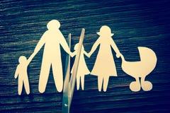 家庭的崩解 离婚 部分孩子 图库摄影