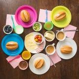 家庭的早餐 免版税库存照片