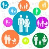 家庭的概念 免版税库存照片