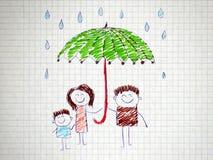 家庭的社会保护 库存照片