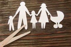 家庭的崩解 离婚 部分孩子 免版税库存图片