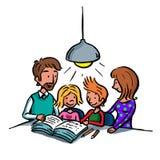 家庭研究 免版税图库摄影