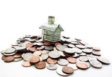 家庭硬币 免版税库存图片