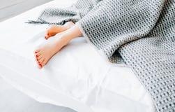 家庭纺织品床单室内设计 免版税图库摄影