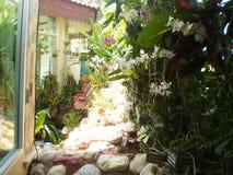 家庭菜园装饰想法 免版税库存照片