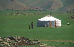 家庭蒙古语 库存图片