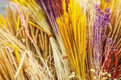 家庭装饰的干草染料 免版税库存图片