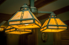 家庭装饰的灯具灯 库存照片