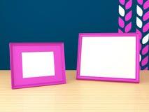 家庭装饰的画框。 免版税库存图片