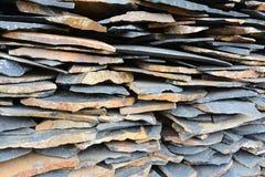家庭装饰的页岩石头 库存图片