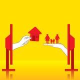 家庭观念设计的买的新的家 向量例证