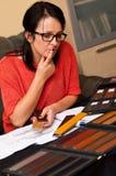 家庭计划 免版税库存图片