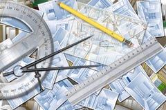 家庭设计计划 免版税库存图片
