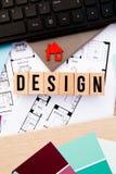 家庭设计-内部装饰 库存照片