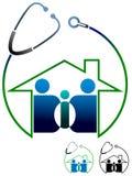 家庭诊所商标 向量例证