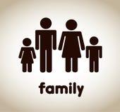 家庭象 向量例证