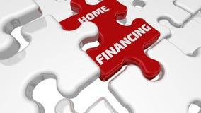 家庭财务 在难题的缺掉元素的题字 向量例证