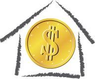 家庭货币 免版税库存照片