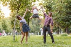 家庭跳跃 库存图片