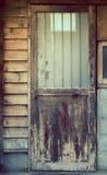 家庭边门由木日本式制成 使用葡萄酒过滤器 库存照片