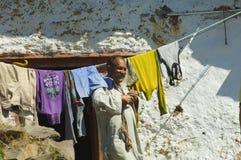 家庭运作的喜马拉雅山 库存照片