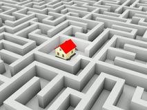 家庭迷宫 免版税库存图片