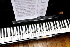 家庭钢琴 免版税库存照片