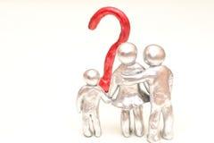 家庭问题 隐喻 免版税库存图片