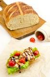 家庭面包 免版税库存图片