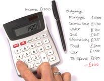 家庭预算 库存图片