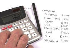 家庭预算 免版税图库摄影