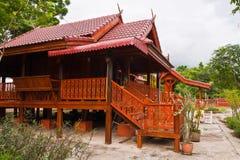 家庭风格泰国木 库存图片