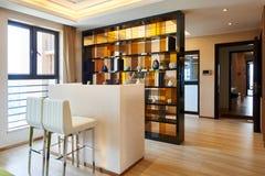 家庭餐厅和客厅 库存照片