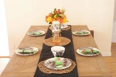家庭餐桌 图库摄影
