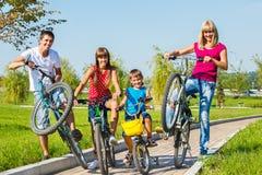 家庭骑马自行车 库存照片
