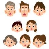 家庭麻烦表示象的三世代  向量例证