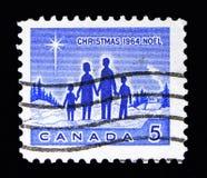 家庭,圣诞节serie,大约1964年 免版税库存图片