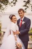 年轻家庭,婚礼,新婚佳偶 库存照片
