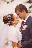 年轻家庭,婚礼,新婚佳偶 库存图片