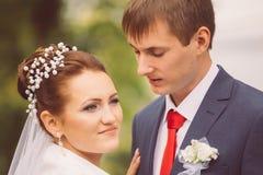 年轻家庭,婚礼,新婚佳偶 免版税库存照片