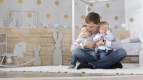 家庭,幸福,父权,父母身分概念 股票视频