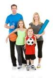 家庭:准备好的家庭一起行使 免版税库存图片