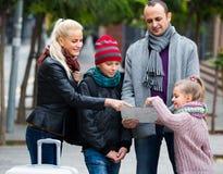 家庭读书城市地图 免版税图库摄影