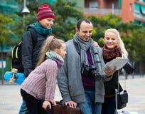 家庭读书城市地图 免版税库存照片