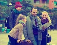 家庭读书城市地图 库存图片