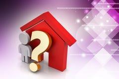 家庭购买或租概念 免版税图库摄影