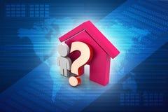 家庭购买或租概念 库存照片
