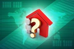家庭购买或租概念 免版税库存照片
