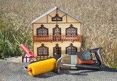 家庭整修的概念 免版税库存照片