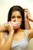 家庭暴力 库存照片